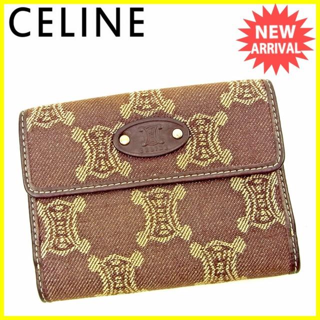 af6bdb5639e5 セリーヌ Celine 財布 Wホック財布 マカダム レディース メンズ 中古 T3821