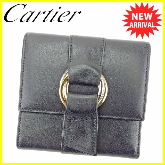 カルティエ Cartier 三つ折り 財布 レディース メンズ 可 トリニティ 良品 セール 【中古】 T4355