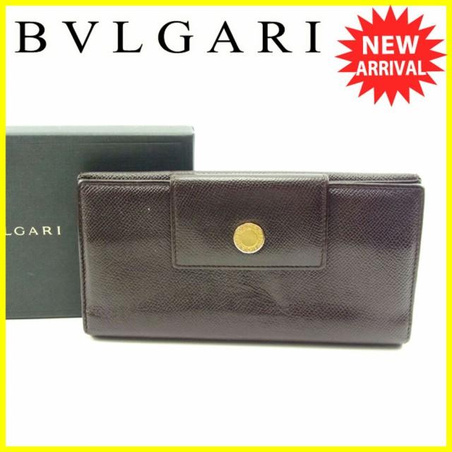 ブルガリ BVLGARI 長財布 Wホック 三つ折り レディース メンズ 可 ブルガリ ブルガリ人気 セール 【中古】 T4621