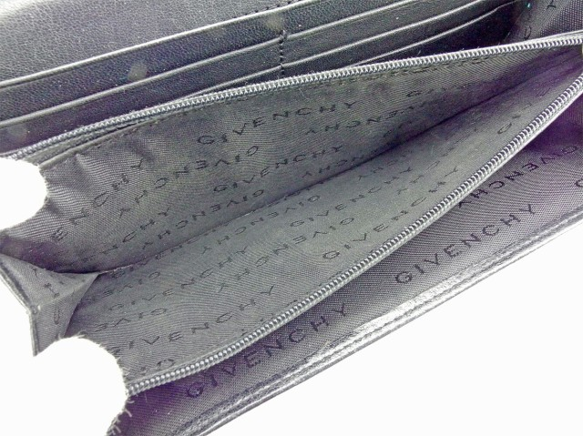 ジバンシィ GIVENCHY 長財布 財布 ファスナー付き レディース メンズ 可 ロゴプレート 中古 人気 セール T5597