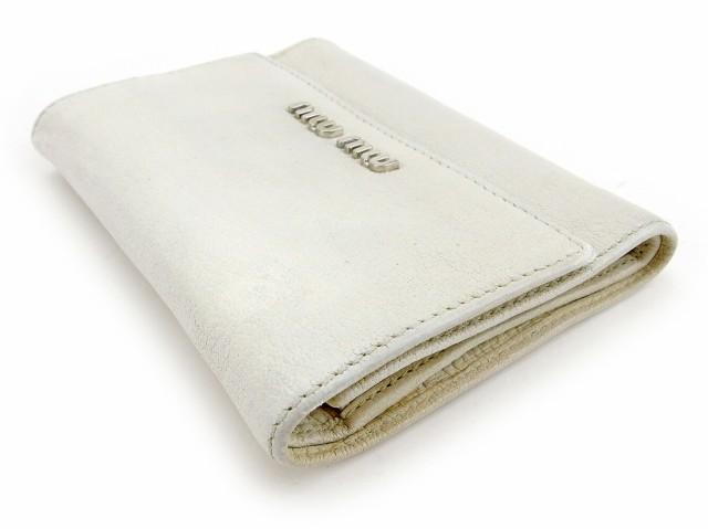 ミュウミュウ miu miu 三つ折り 財布 ファスナー付き レディース ロゴ 中古 人気 セール T5634