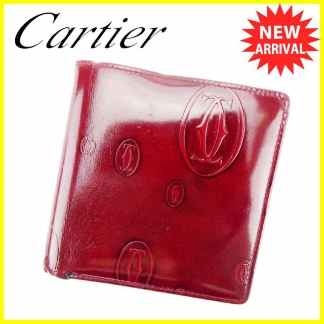 7d83c01b490f カルティエ Cartier 財布 二つ折り財布 ハッピーバースデー レディース メンズ 中古 T6019