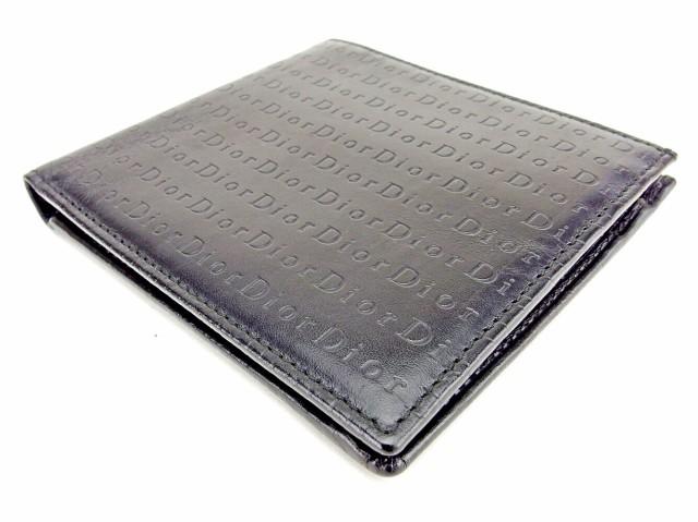 ディオール オム Dior homme 二つ折り 財布 レディース メンズ 可 ロゴ [中古] 人気 良品 T6446