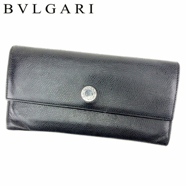 fb9d65395b1e ブルガリ BVLGARI 長財布 財布 ファスナー付き レディース メンズ 可 ロゴボタン [中古] 人気