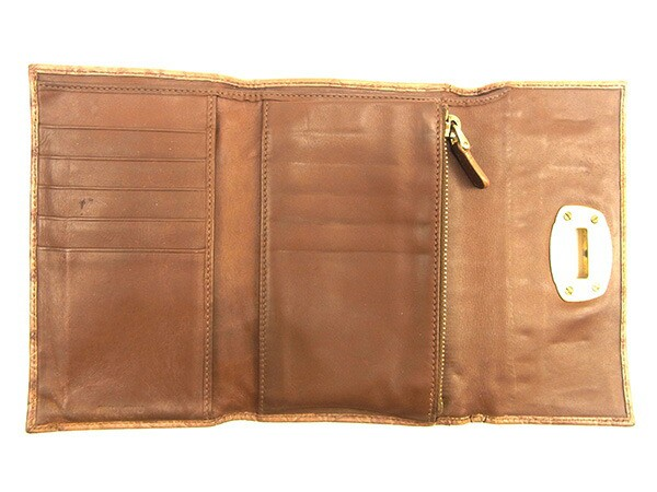 ミュウミュウ miu miu 三つ折り財布 レディース メンズ 可 クロコダイル型押し人気 セール【中古】 Y7513