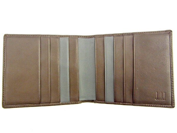 ダンヒル Dunhill 二つ折り札入れ 二つ折り財布 メンズ可 新品未使用【未使用】 T939