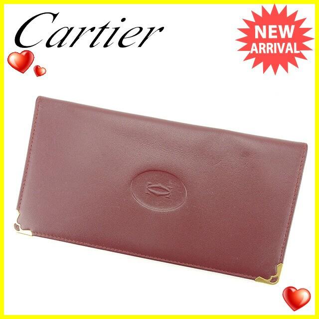 9e6dca0b526c カルティエ Cartier 長札入れ メンズ可 マストライン [中古] 人気 セール F1216-その他バッグ・財布・ファッション小物。