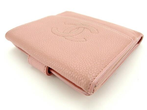 シャネル CHANEL Wホック財布 二つ折り財布 レディース ココマーク 人気 セール【中古】 Y5470