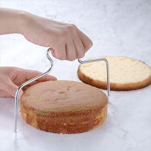 ケーキスライサー スポンジケーキ スライス補助具 [01]