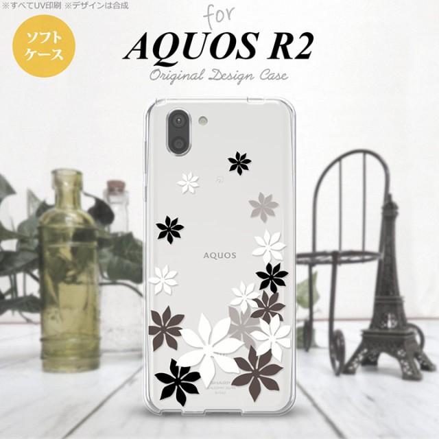 AQUOS R2 アクオス アール2 SH-03K SHV42 専用 スマホケース カバー ソフトケース ティアレ 黒 nk-r2-tp1077