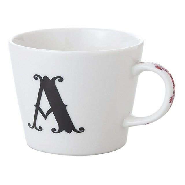 【取寄品】[イニシャル マグカップ &ミニタオル ギフトセット]アルファベット ハンカチ付 マグカップ/A