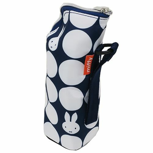 ミッフィー[ペットボトルホルダー]保温保冷 哺乳瓶ケース/ネイビードット ディックブルーナ
