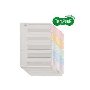 5000円以上送料無料 (まとめ)TANOSEE 見出しカード(エコノミータイプ) A4タテ 5色5山6枚 10組入×40パック 生活用品・インテリア・雑