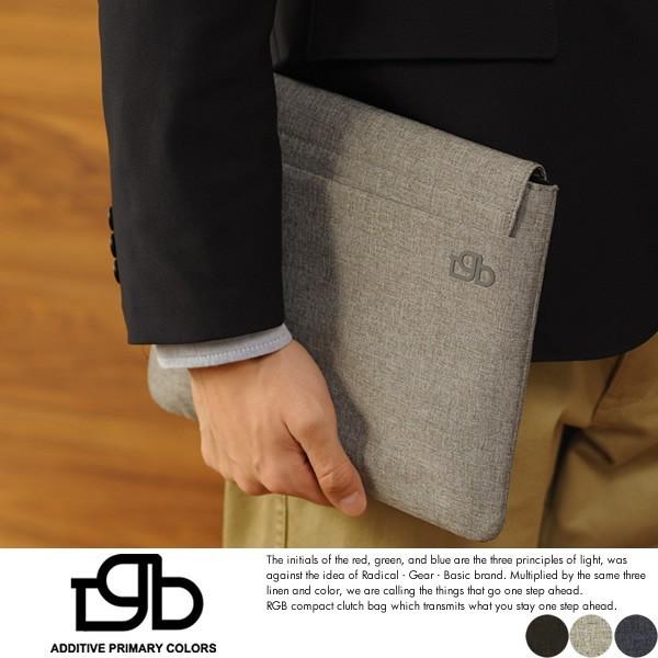 【R.G.B.】クラッチバッグ メンズ iPadケース タブレット インナーバッグ シンプル