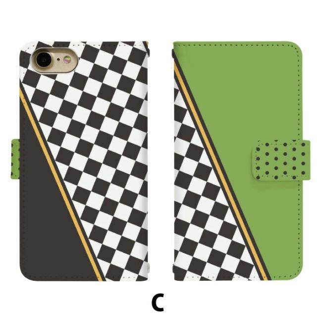 スマホケース 手帳型 miraie KYL23 携帯ケース KYL23 ドットチェック au miraie カバー di333