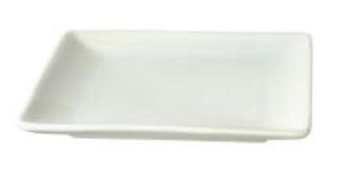 リビング ホワイト スクエアプレート 12.7cm 〔まとめ買い100個セット〕