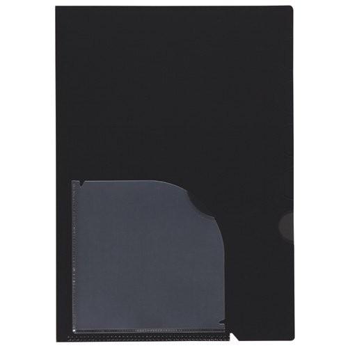 (まとめ買い)セキセイ アクティフ 5インデックスフォルダー A4 ブラック ACT-902-60 〔10冊セット〕