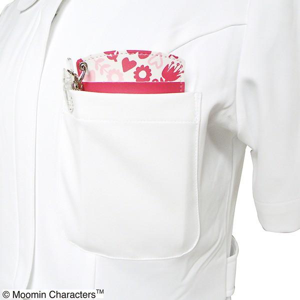ムーミン胸ポケット用ペンケース リトルミイ総柄レッド〔2個セット〕