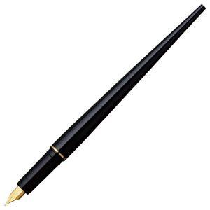 (まとめ) プラチナ デスクペン万年筆 ブラック(黒インク) DPQ-700A#1 1本 〔×5セット〕