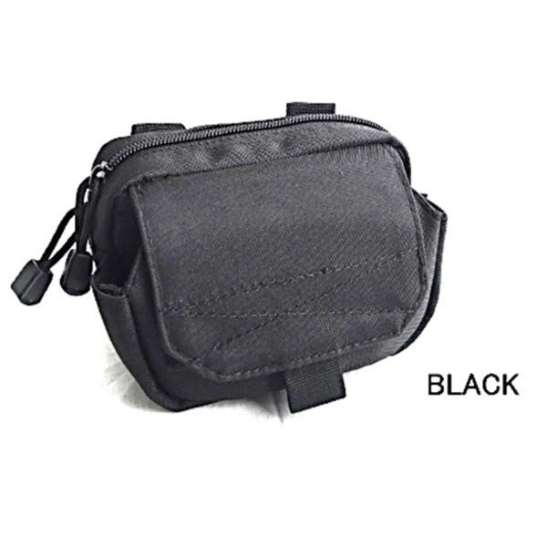 GP0102裏防水加工布仕様小物入れポーチ ブラック