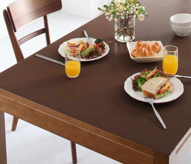 拭ける・はっ水 本革調モダンラグ・マットシリーズ 〔selals〕セラールス テーブルマット 45×150cm アイボリー