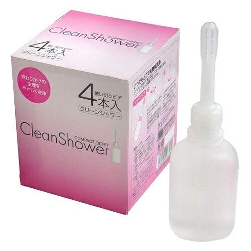 クリーンシャワー 4P オカモト (4本セット)【膣内洗浄液】