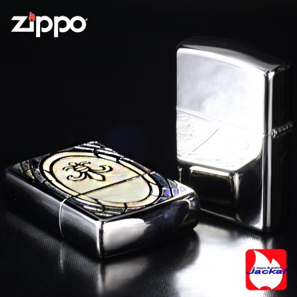 ZIPPOアーマーシェル・インレイリリー・ユリ/貝貼り加工画像5