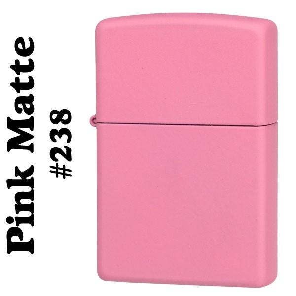 zippo(ジッポーライター)Pink Matte ピンクカラーマットジッポー #238 画像1