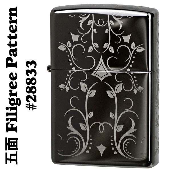 zippo(ジッポーライター) Filigree Pattern (フィルグリ-パターン) Black Ice #28833