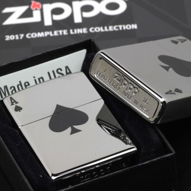 zippo(ジッポーライター)Lucky Ace (spade) クロームポリシュ 24011 画像3