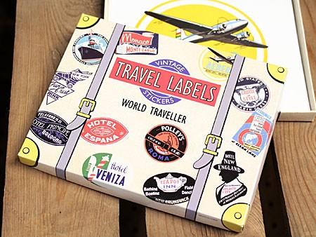 ステッカーセット 20枚セット ラゲージラベル WORLD TRAVELLERの外装箱