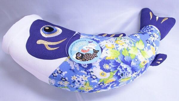鯉のぼりのぬいぐるみ【ちりめん鯉ぐるみ】黒鯉・赤鯉・青鯉3匹セット【小】[koi-s3]五月人形