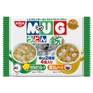 日清マグうどん 94g(4食入)(インスタントラーメン) きつねうどん カレーうどん