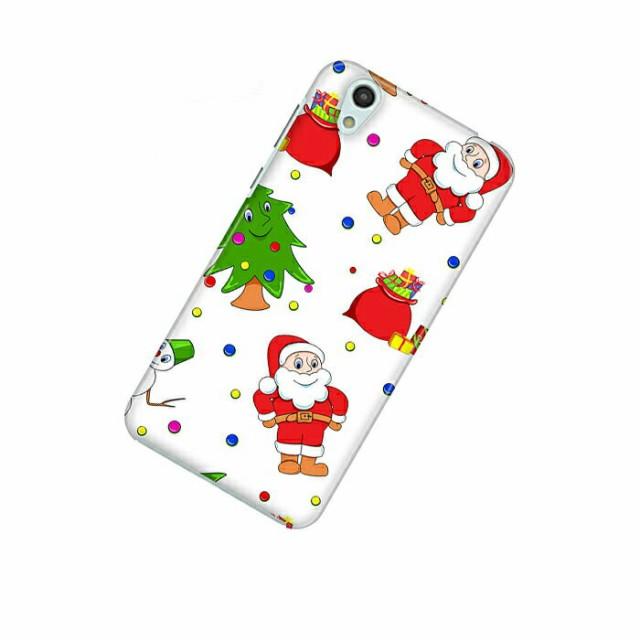 ドレスマ 季節 クリスマス カバー ケース スマホ ハード AQUOS sense SH-01K/SHV40 専用 ドレスマ SH01K-08XM044