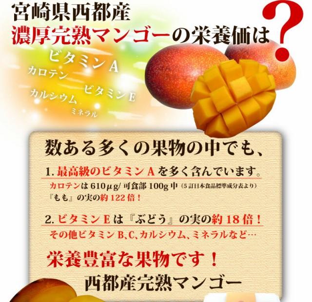 宮崎県西都産 濃厚完熟マンゴーの栄養価は?