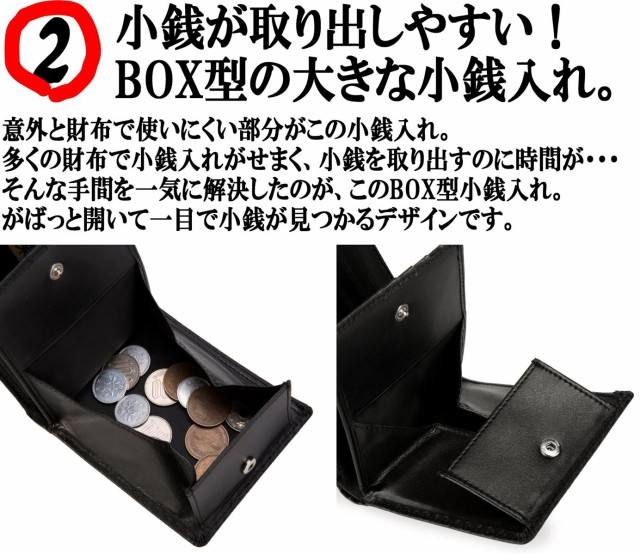 小銭が取り出しやすい。ボックス型小銭入れ