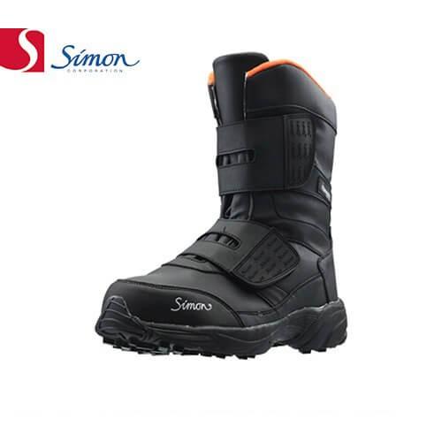 安全靴 ブーツ シモン Simon KB38黒 2312990 マジック止め JSAA規格 プロテクティブスニーカー