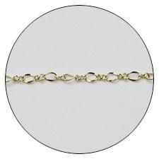 Jewelry-Nail CH-0006 レースチェーン ゴールド 【ネイルアートアクセサリー・メタルスタッズ・メタルパーツ関連ネイル用品】
