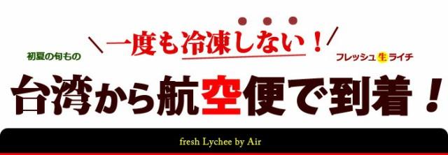 航空便でやって来る台湾ライチ黒葉