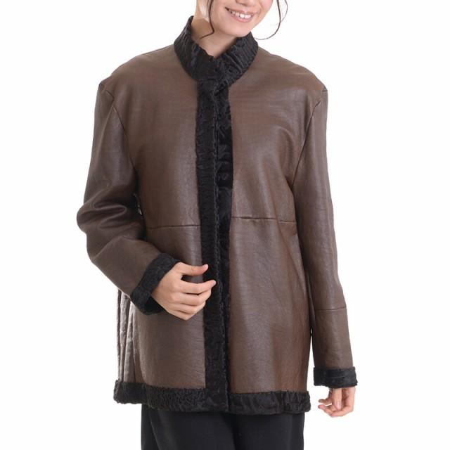 処分SALE返品不可【送料無料】日本製スワカラリバーシブルジャケットコート マロン
