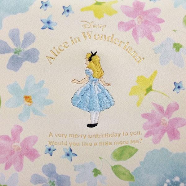 新生活 プレゼント ディズニー 不思議の国のアリス アリスフラワー スクエアポーチ ホワイト (MCAC)