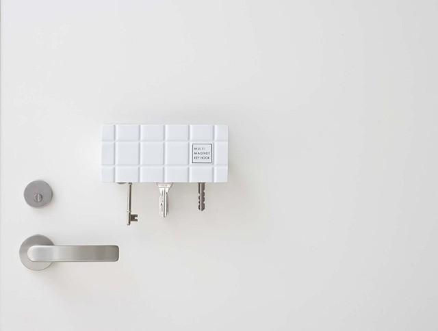 マルチマグネットキーフック タイル 鍵フック keys hook 鍵収納 強力磁石 玄関扉にピタッと貼りつく 玄関小物収納