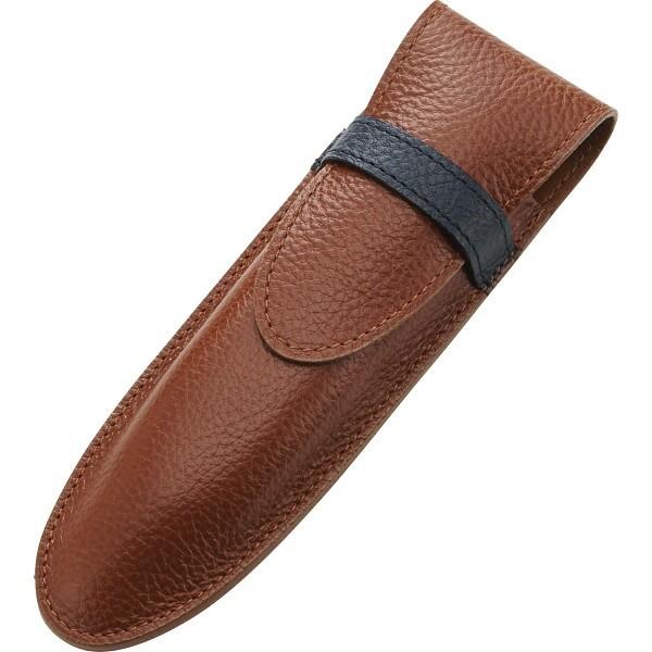 牛革 フラップペンケース ブラウン 装身具 事務小物雑貨 ペンケ-ス 630016-20(代引不可)