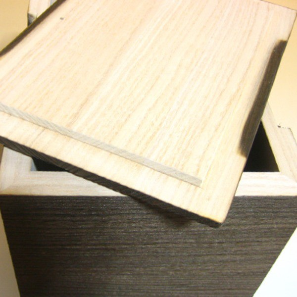 桐の米びつ/ライスストッカー 【10kg用/焼桐】 縦長型 泉州留河 日本製