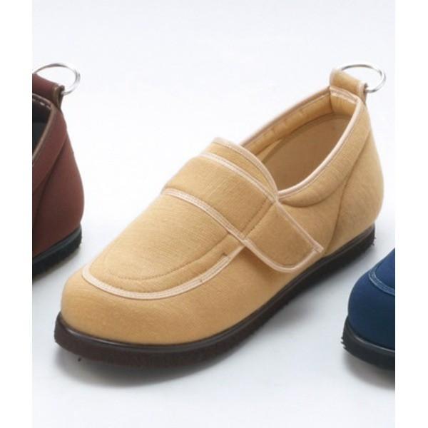 介護靴/リハビリシューズ ベージュ LK-1(外履き) 【片足23cm】 3E 左右同形状 手洗い可/撥水 [歩行補助用品] 日本製