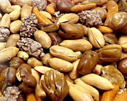 てんこ盛り☆おつまみナッツどっさり2kg(1kg×2)(さきいか入り!)(代引き不可)