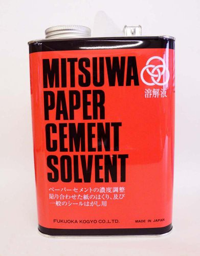 ミツワ ペーパーセメント ソルベント 大缶 1570C C 【HTRC 3】