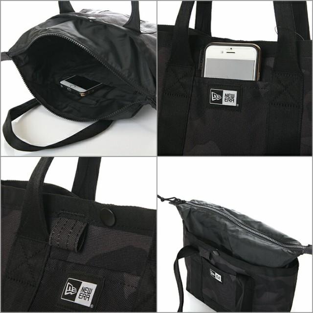 ニューエラ ミニ トートバッグ メンズ レディース NEW ERA バッグ 6L NEWERA Mini Tote Bag ファスナー付き 小さめ 黒 迷彩 ネイビー