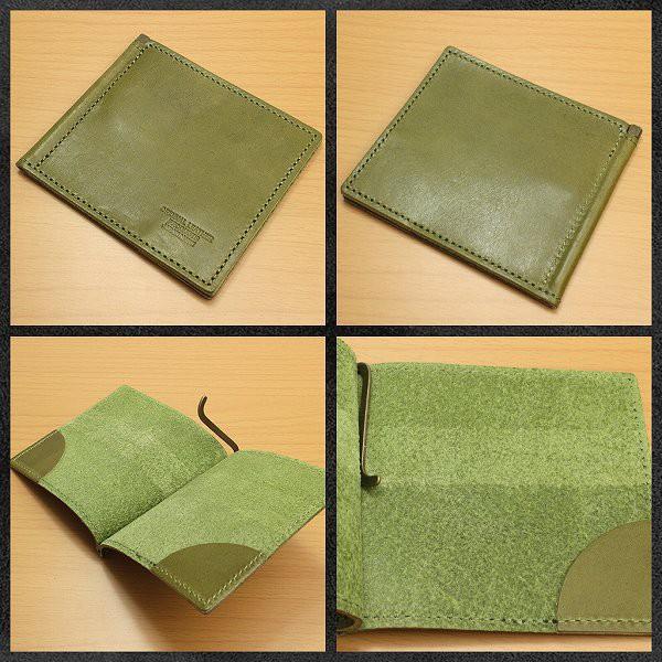 日本製本革 栃木レザー[ジーンズ]マネークリップ 札入れ 二つ折り 財布 L-20492 送料無料