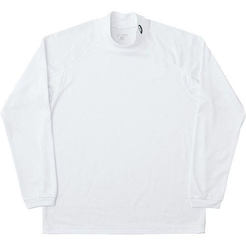 asics アシックス トレーニング ウオームハイネックロングスリーブシャツ長袖 XA6144 ホワイト